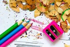 Bleistiftspitzerabfall Stockbild