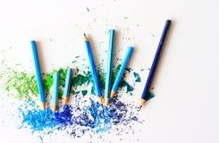 Bleistiftwerkzeug in Form einer Stange hergestellt vom Schreibmaterial stockfoto