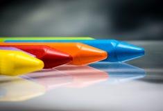 Bleistiftzeichenstift-Wachssatz Lizenzfreies Stockfoto