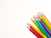 Bleistiftzeichenstifte auf weißem Hintergrund Lizenzfreie Stockbilder