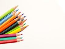 Bleistiftzeichenstifte auf weißem Hintergrund Lizenzfreies Stockbild