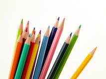 Bleistiftzeichenstifte auf weißem Hintergrund Lizenzfreies Stockfoto