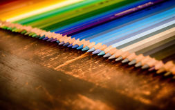 Bleistiftzeichenstiftfarbstiftschule Lizenzfreie Stockfotografie