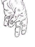 Bleistiftzeichnung. menschliche Hand Lizenzfreie Stockbilder