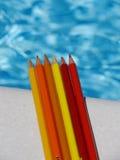 Bleistiftzeichnungssonne Stockbild