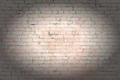 Blek apelsin, beige tegelstenvägg från de osedda raderna Ljus bakgrund med karaktärsteckning Textur av murverket Royaltyfria Foton