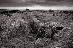 Blek dag Bodmin hed, Cornwall royaltyfria bilder