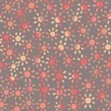 Blek purpurfärgad sömlös vektormodell med enkla rosa tusenskönor vektor illustrationer