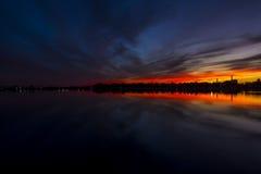 Blekna för solnedgång Arkivfoto