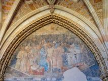 Blekna freskomålningen - Leon arkivbilder