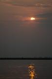 Blekna solnedgång Fotografering för Bildbyråer