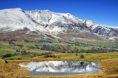 Blencathra. Reflections in a Calm Lake Royalty Free Stock Photo