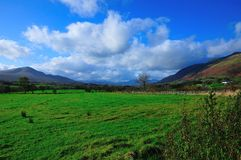 Between Blencathra and Clough Head. Royalty Free Stock Photo