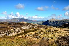 Blencathra. And Clough Head from High Seat Royalty Free Stock Photos