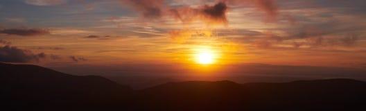 Blencathra-Sonnenuntergang Lizenzfreies Stockbild