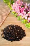 Blend of black tea on a table with colours3. Stock Photos