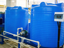 Blend coupage tank. For water and beverages in food processing industry stock photos