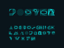 Blend line Designer alphabet / font Royalty Free Stock Images