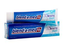Blend-a-med toothpaste, 3D white fresh Royalty Free Stock Image