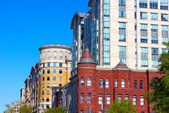 Blend of modern and historic buildings in Washington DC, USA. Royalty Free Stock Photos
