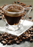Blended coffee close up Royalty Free Stock Images