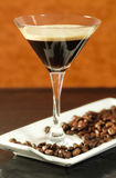 Blended coffee over a coffee rtay Stock Photos
