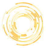 Blended elements striped cut from circles Royalty Free Stock Photo