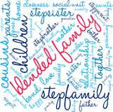 Blended Family Word Cloud vector illustration