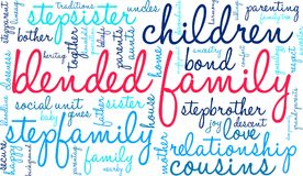 Blended Family Word Cloud. On a white background Stock Photo