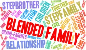 Blended Family Word Cloud. On a white background Royalty Free Stock Photography
