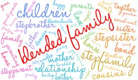 Blended Family Word Cloud Stock Image