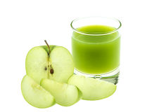Blended green apple juice Royalty Free Stock Photo