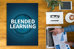 BLENDED LEARNING Royalty Free Stock Image
