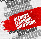Blended Learning Solutions on Brickwall. Stock Photos