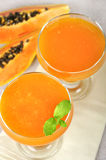 Blended papaya juice Royalty Free Stock Photo