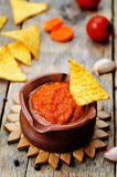 Blended red salsa Royalty Free Stock Images