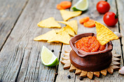 Blended red salsa Royalty Free Stock Photography