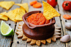 Blended red salsa Royalty Free Stock Photos