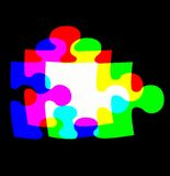 Blended RGB. To form a rainbow puzzle Royalty Free Stock Photo