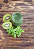 Blended smoothie with ingredients. Selective focus Royalty Free Stock Photography