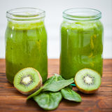 Blended smoothie with ingredients selective focus Stock Photography