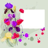 Blenden und Mohnblumen lizenzfreie abbildung