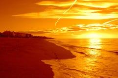 Blendend Mittelmeersonnenaufgang Stockfotografie