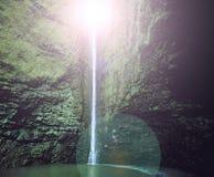 Blendenfleck des Wasserfalls Lizenzfreie Stockfotos