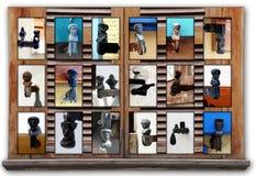Blendenverschluß stöpselt Collage zu Lizenzfreie Stockbilder