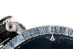 Blendenverschluss-Drehzahleinstellung Stockfoto