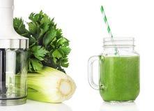 Blender, зеленые smoothies Стоковое Изображение RF