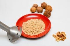 Blender и грецкие орехи Стоковые Фото