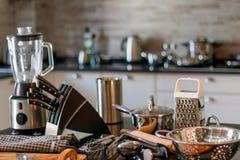Blender ножей утварей кухни Стоковое Фото