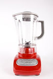 Blender. A red blender isolated on a white background royalty free stock image